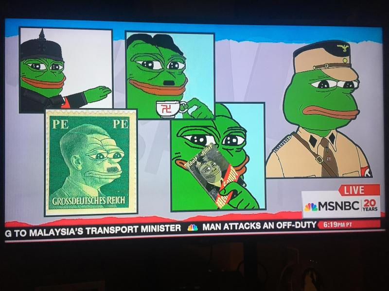 Pepe the frog according to MSNBC