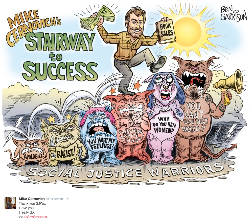 Ben Garrison actual unaltered cartoon