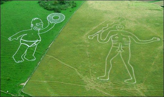 Homero, dona y gigante vergón