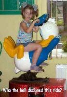 The weirdest children ride
