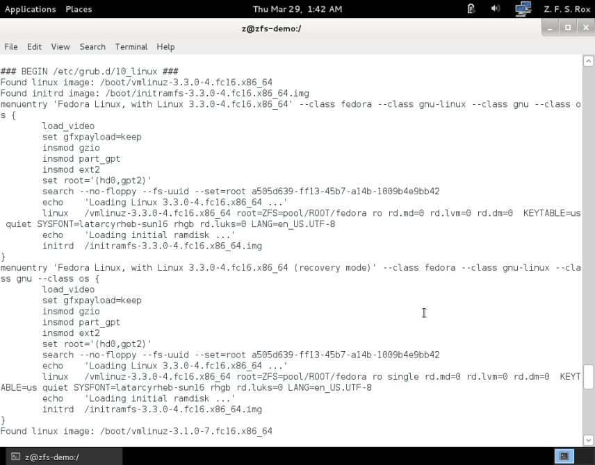 How to install Fedora on top of ZFS — Rudd-O com in English